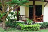 Villa, gardening, landscaping, park decoration and design — Stock Photo