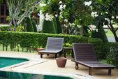 Outdoor resort pool in asia tourist islands — Foto de Stock