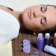 Young beautiful woman resting after spa procedures — Stock Photo #20952937