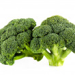 图库照片: Fresh broccoli isolate on white background