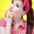 Cheerful pin up girl — Stock Photo #12463650