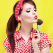 Stock Photo: Cute pin up girl