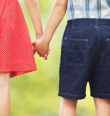 Children holding hands — Stock Photo