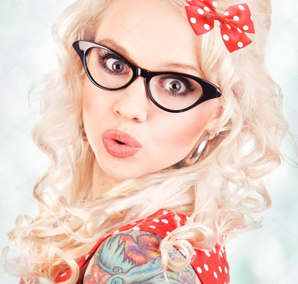 Pretty pin up girl  Stock Photo #12463532