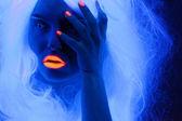 Fairy tale portrait in uv light — Stock Photo