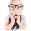 Funny nerdy girl — Stock Photo #18547237