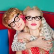 Happy nerdy couple — Stock Photo #18547289