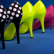 Colorful high heels frame — Stock Photo #18885697