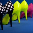Stock Photo: Colorful high heels frame