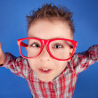 Stok fotoğraf: Cool five years old boy showing ok sign