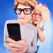 Stock Photo: Social media relationship status is complicated