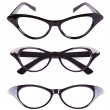 Stock Photo: Cat eyes shaped retro glasses