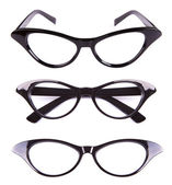Cat eyes shaped retro glasses — Foto de Stock
