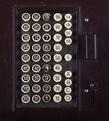 Buttons of an old cash register — Стоковое фото