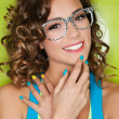 Happy attractive young woman — Stock Photo