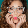 Foto de Stock  : Womwearing glasses