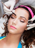 Eyebrows tinting treatment — Stock Photo