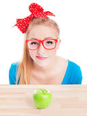 Woman with healthy food idea — Stock Photo