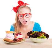 Elección entre comida basura y saludable — Foto de Stock