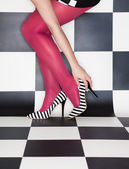 Woman wearing high heels — Stock Photo