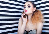 Woman with professional party make up — Stock Photo