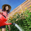 Beautiful woman gardener — Stock Photo #5821295