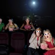 Funny are watching scary 3d movie — Foto Stock #8660662