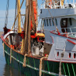 Stock Photo: Green fish trawler