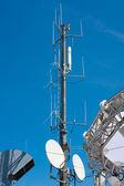 Small antenna tower — Stock Photo