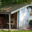 Stock Photo: Old garden shed