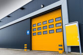 Yellow loading door — Stock Photo