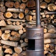 Homemade wood burner — Stock Photo