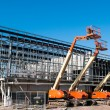 Construction crane at building site — Stock Photo