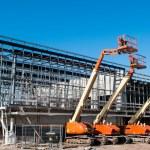 Construction crane at building site — Stock Photo #25167079