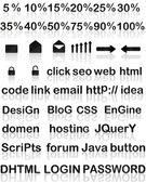 Web-attribute — Stockfoto