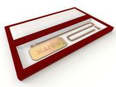 "Gold badge ""MASON"" — Stock Photo"