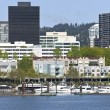Downtown Marina, Portland Oregon. — Stock Photo