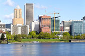 Portland Oregon downtown skyline. — Stock Photo
