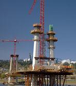 Construction of a new bridge Portland OR. — Stock Photo