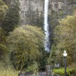 Spring at Multnomah Falls Oregon. — Stock Photo