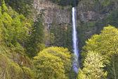 Spring in Multnomah Falls Oregon. — Stock Photo