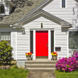 Royalty-Free Stock Photo: House with a red door.