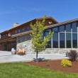 Stock Photo: Mt Hood winery wine tasting building.