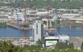 Construcción de un nuevo puente portland o. — Foto de Stock