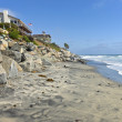 Stock Photo: Erosion control california beaches.