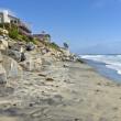 Erosion control california beaches. — Stock Photo
