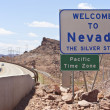 Nevada welcome sign. — Stock Photo