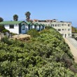 Bungalows and ocean view Point Loma California. — Stock Photo