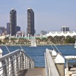 Twin towers on San Diego skyline California. — Foto Stock