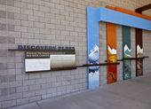 Red Rock Canyon visitor center information NV. — 图库照片